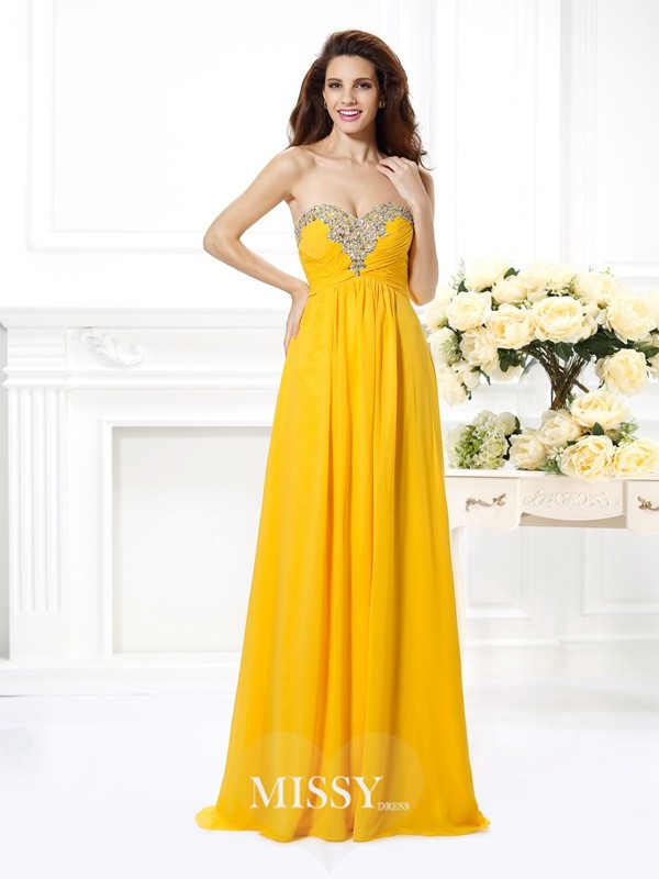 Princess Sweetheart Beading Long Dresses