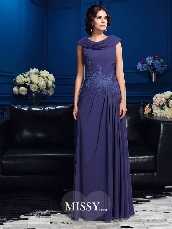 A-Line/Princess Sleeveless Floor-Length Chiffon Mother Dresses