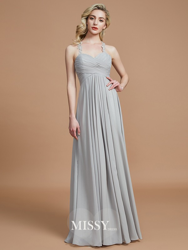 A-Line/Princess Sweetheart Sleeveless Ruched Floor-Length Chiffon Bridesmaid Dresses