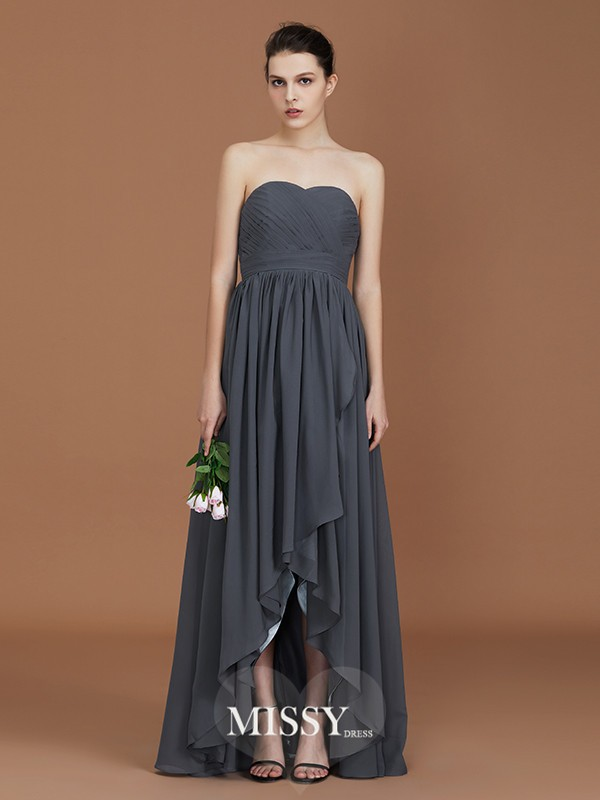 A-Line/Princess Sweetheart Ruched Floor-Length Chiffon Bridesmaid Dresses