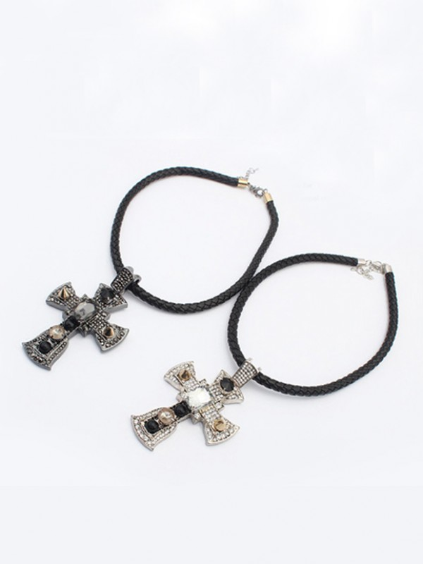 Occident Punk Retro Cross Necklace
