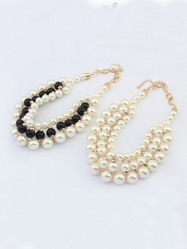 Occident Stylish Imitation pearls Necklace