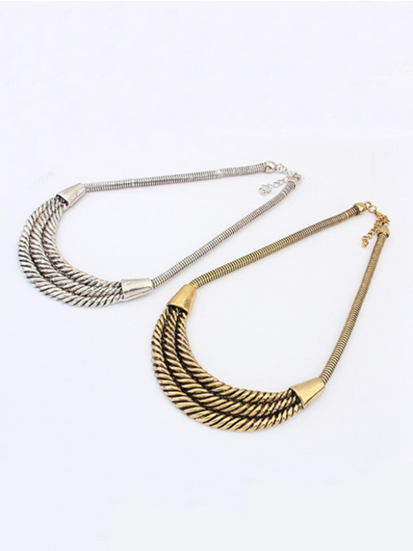 Occident Hyperbolic Personality Semi-arc alloy Necklace