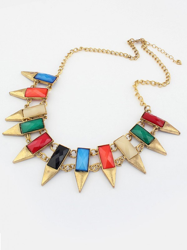 Occident Major suit Retro Geometry Irregular Necklace