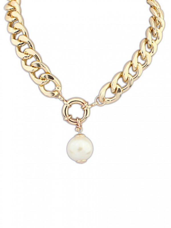 Occident Palace Pearls thick chains Necklace
