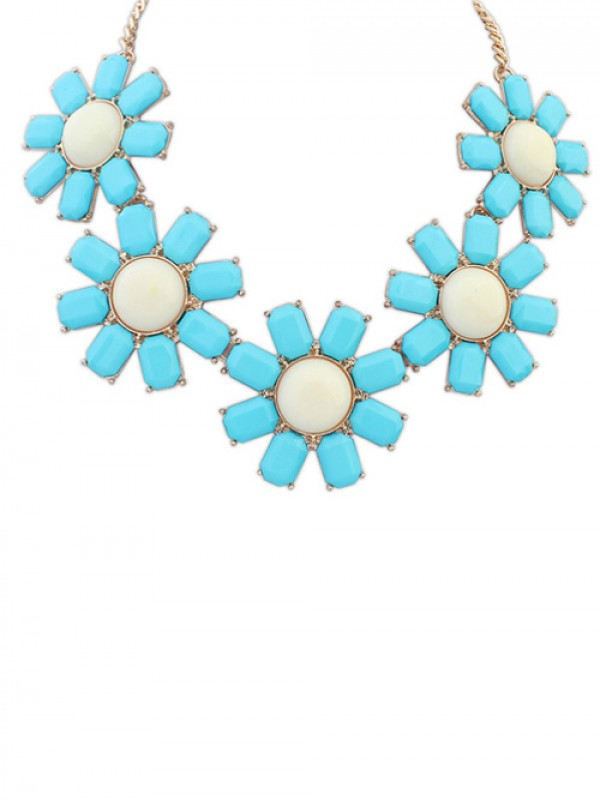 Occident Bohemia Flowers Necklace