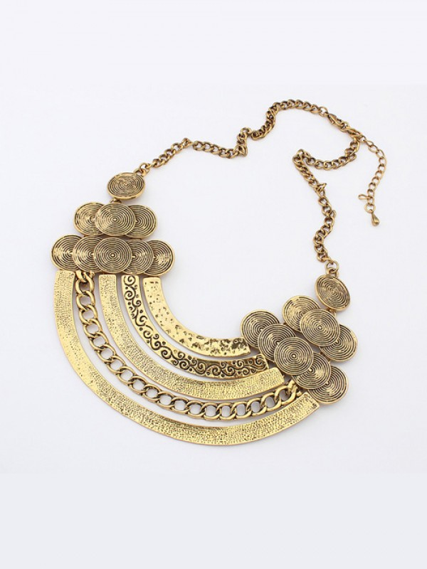 Occident Punk Metallic Hyperbolic Multi-Layered Necklace