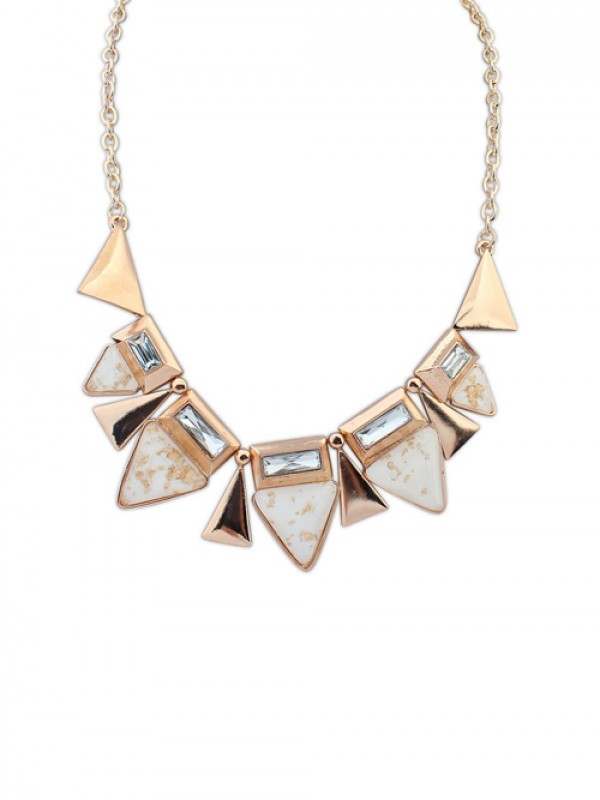 Occident OL Style Geometry Triangle Elegant Necklace