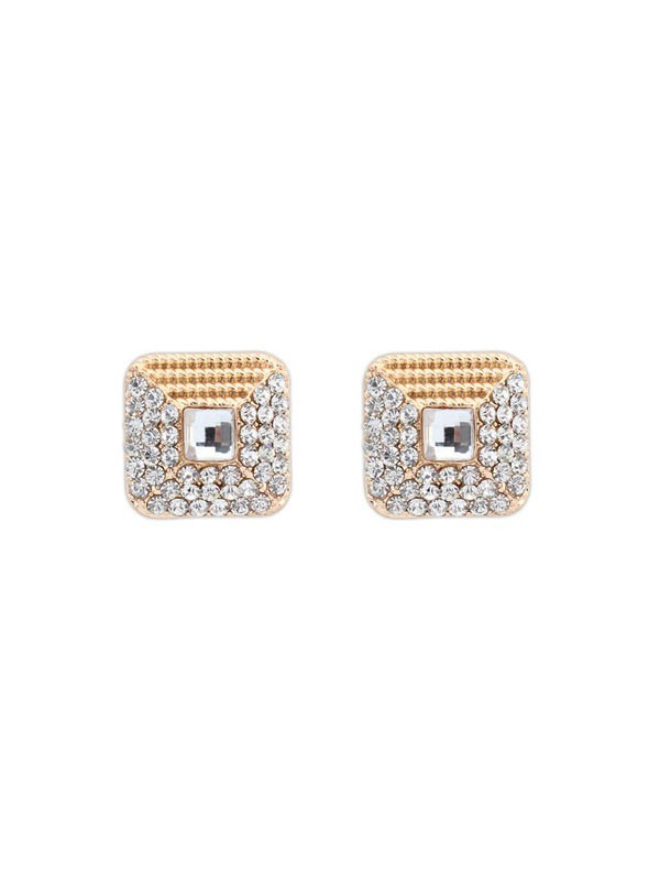 Occident Exquisite Rhinestone Stud Earrings