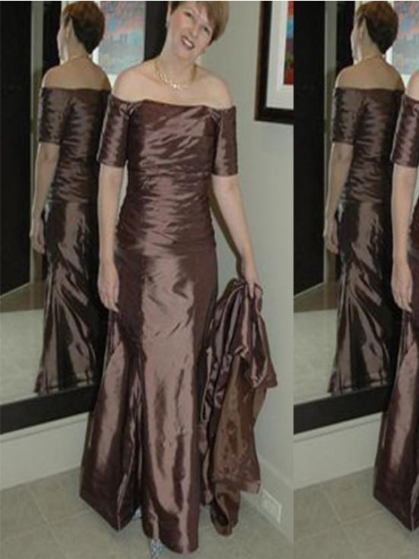 A-Line/Princess Sweetheart Long Sleeves Applique Sweep/Brush Train Chiffon Mother Of The Bride Dresses