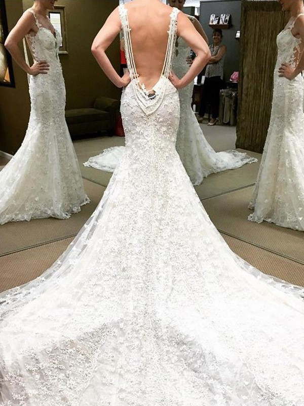 Ball Gown Short Sleeves Floor-Length Off-the-Shoulder Lace Wedding Dresses