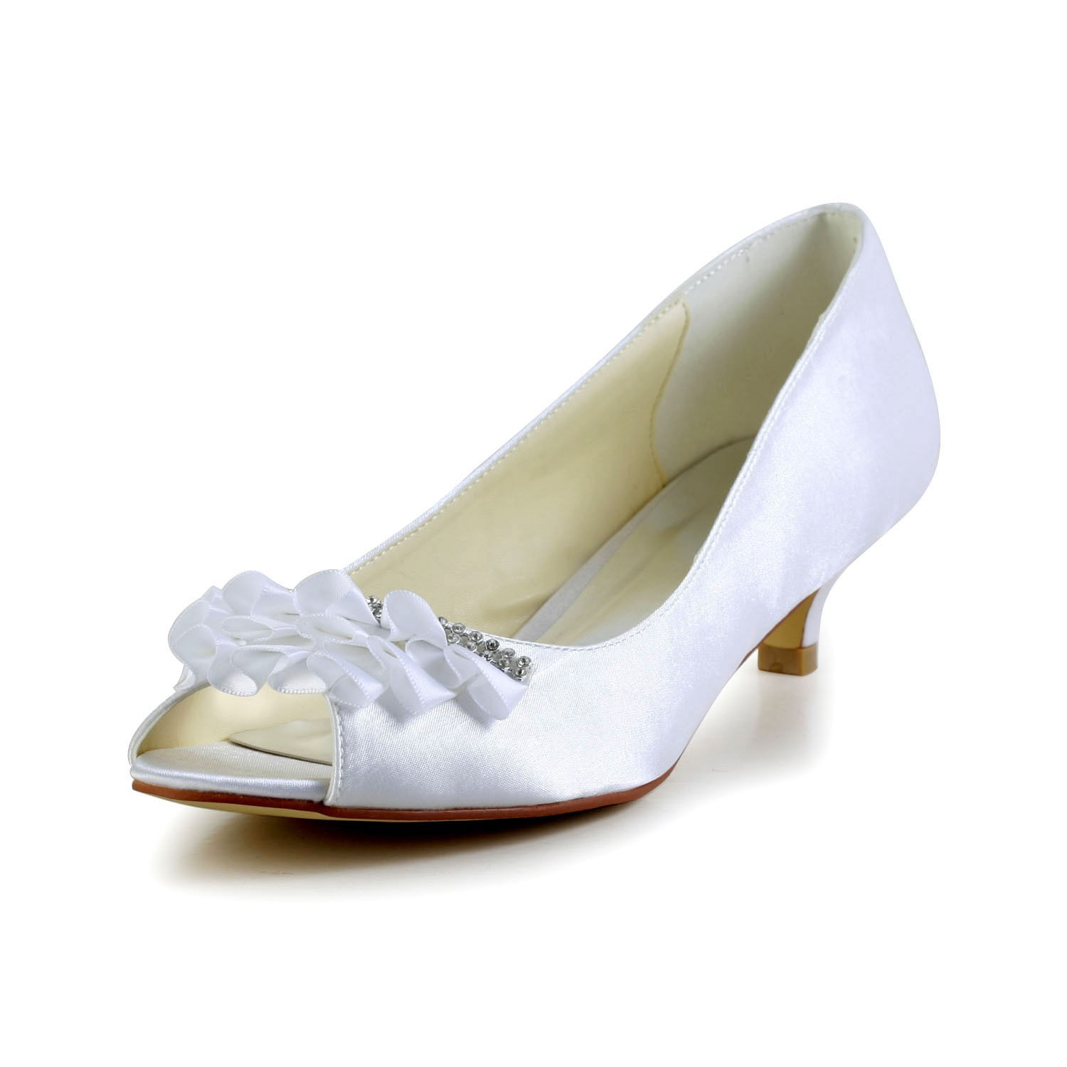 Off White Dress Shoes With Pearls Size