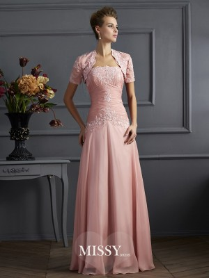Sheath/Column Sleeveless Strapless Chiffon Mother of the Bride Dress