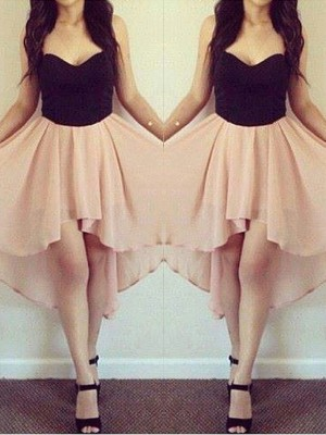 A-Line/Princess Sleeveless Sweetheart Chiffon Short/Mini Dress