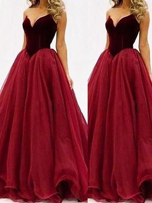 Ball Gown Sweetheart Tulle Floor-Length Dresses