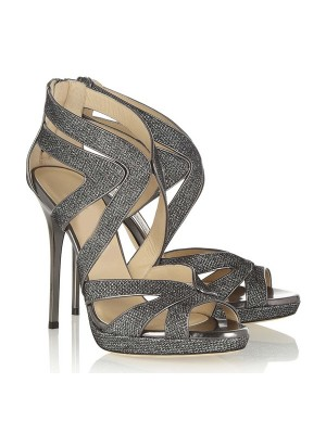 Women's Peep Toe Stiletto Heel Sandal Shoes