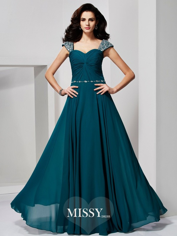 A-Line/Princess Sweetheart Off-the-Shoulder Chiffon Dresses