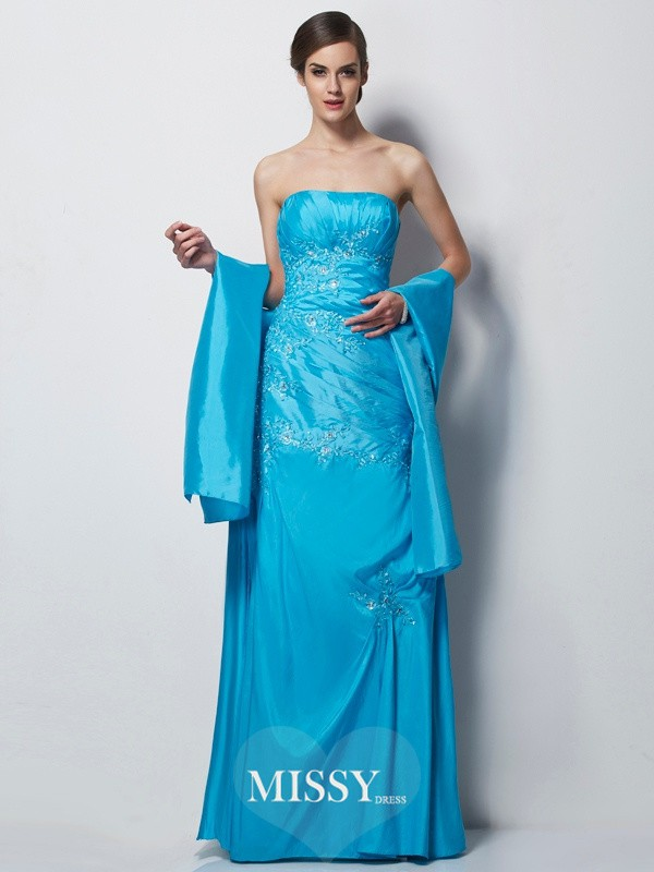 A-Line/Princess Sweetheart Applique Taffeta Floor-Length Mother of the Bride Dresses