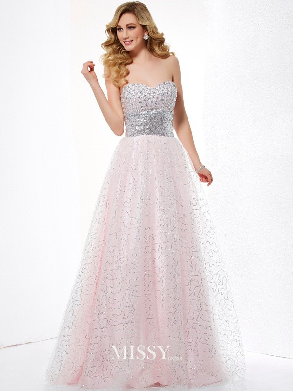 Ball Gown Sweetheart Satin Floor-Length Dresses
