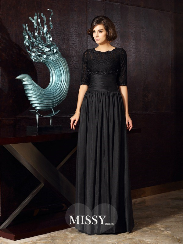 A-Line/Princess Sweetheart Sleeveless Taffeta Applique Floor-Length Mother of the Bride Gowns