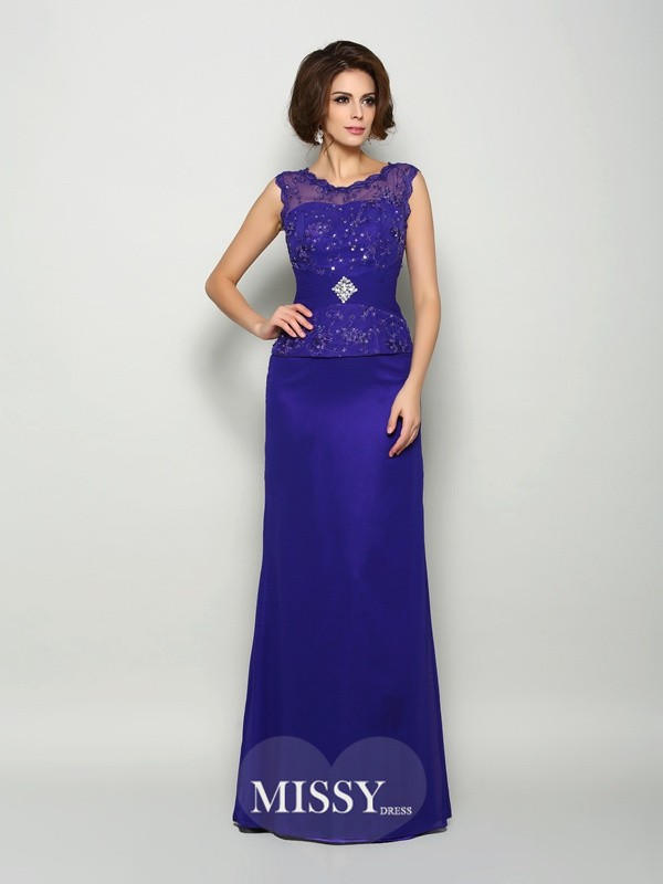 A-Line/Princess V-neck Chiffon Floor-Length Beading Mother of the Bride Dresses