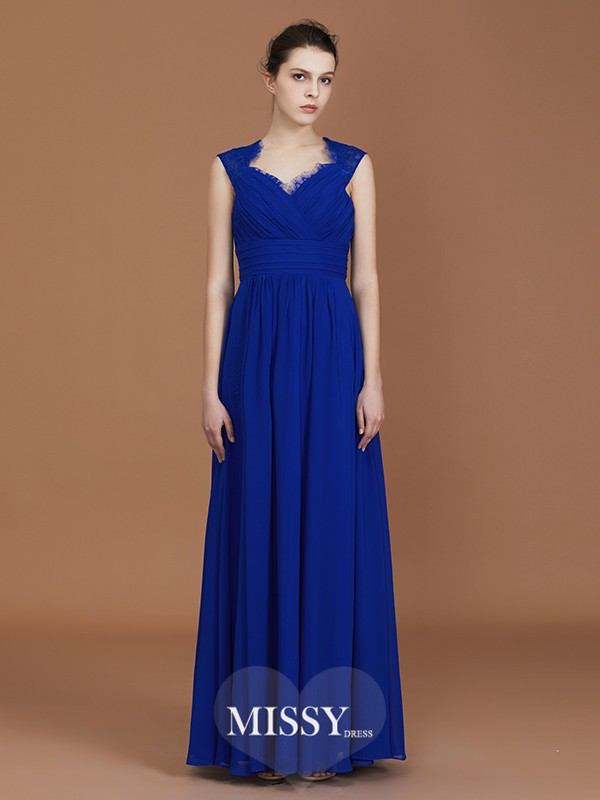 A-Line/Princess Sweetheart Ruffles Floor-Length Chiffon Bridesmaid Dresses
