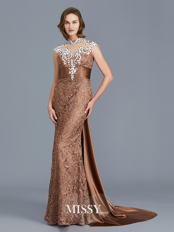 Trumpet/Mermaid Scoop Beading Floor-Length Lace Mother of the Bride Dresses