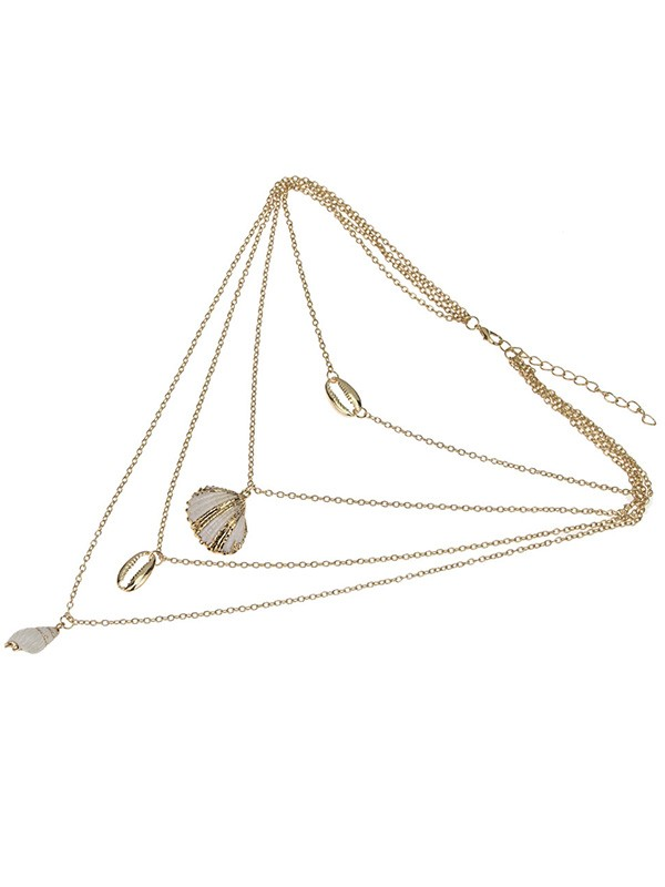 Elegant Alloy With Shell Women Necklaces