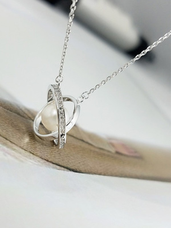 Ladies Elegant S925 Silver Necklaces