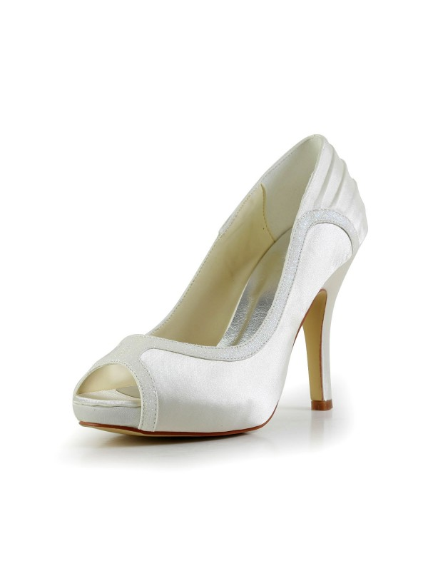 Women's Amazing Satin Stiletto Heel Wedding Shoes