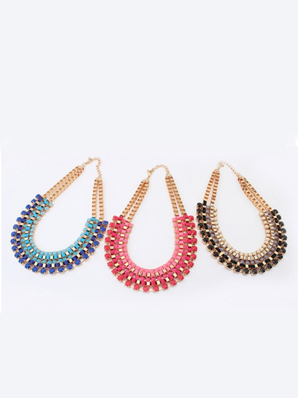 Occident Stylish Retro multi-layered all-match Necklace