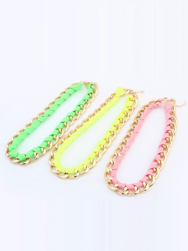 Occident Trendy Major suit Fluorescent colors Necklace