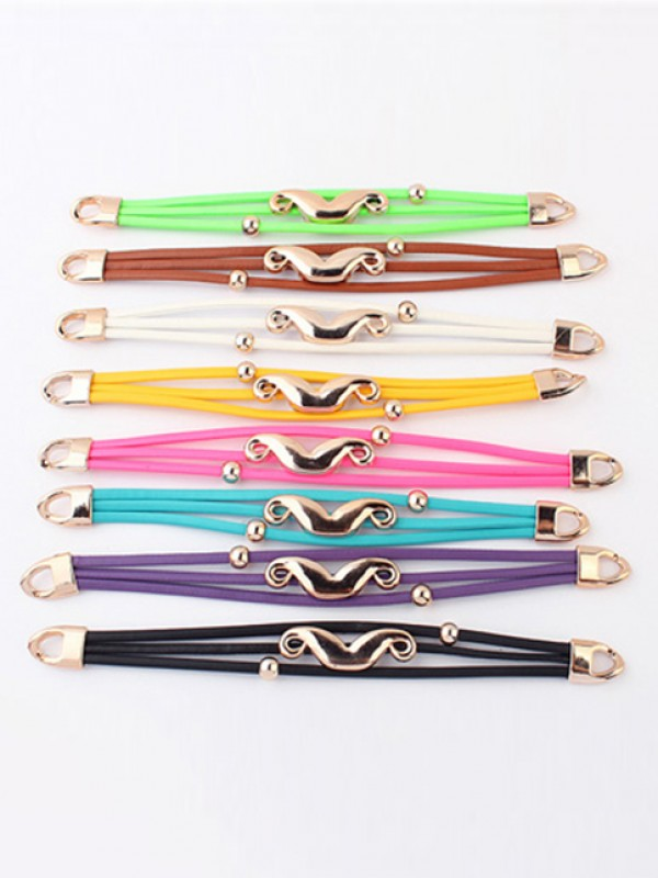 Occident Fluorescent colors Major suit Hot Sale Mustache Bracelets