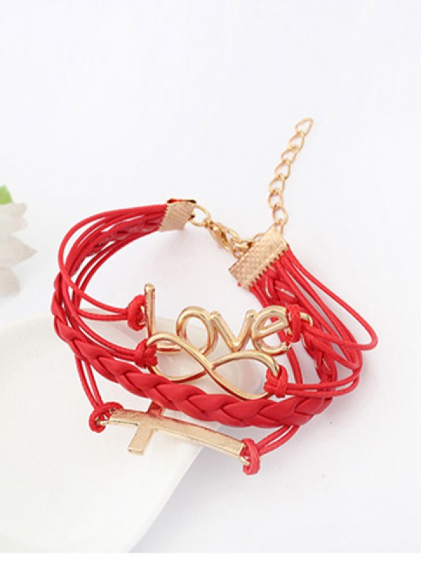 Korean version Romantic Password love Cross Bracelets
