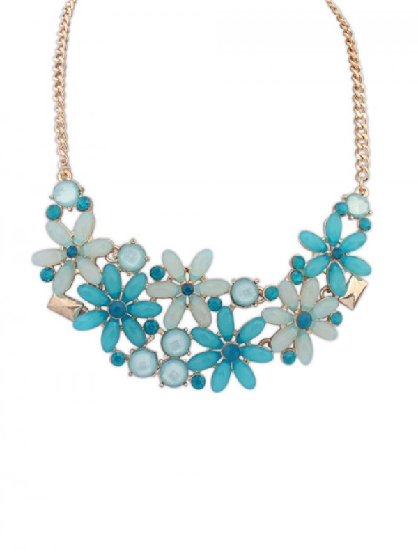 Occident Flowers Blossoming Stylish all-match Necklace