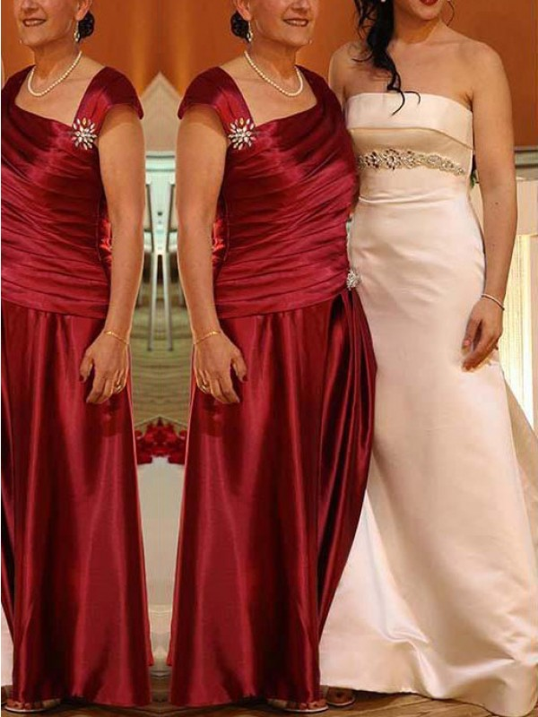 A-Line/Princess Scoop Sleeveless Beading Floor-Length Chiffon Mother Of The Bride Dresses