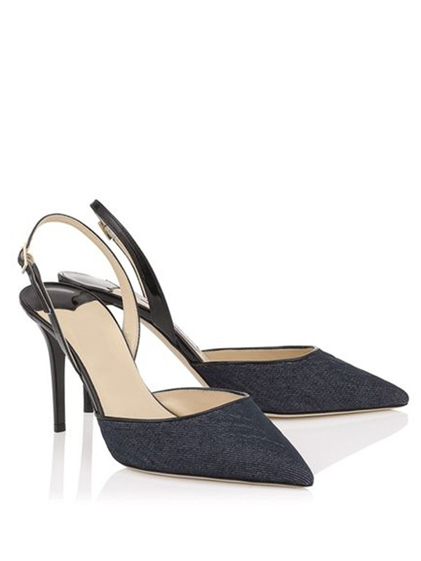 Women's Stiletto Heel Closed Toe With Buckle Sandal Office Shoes