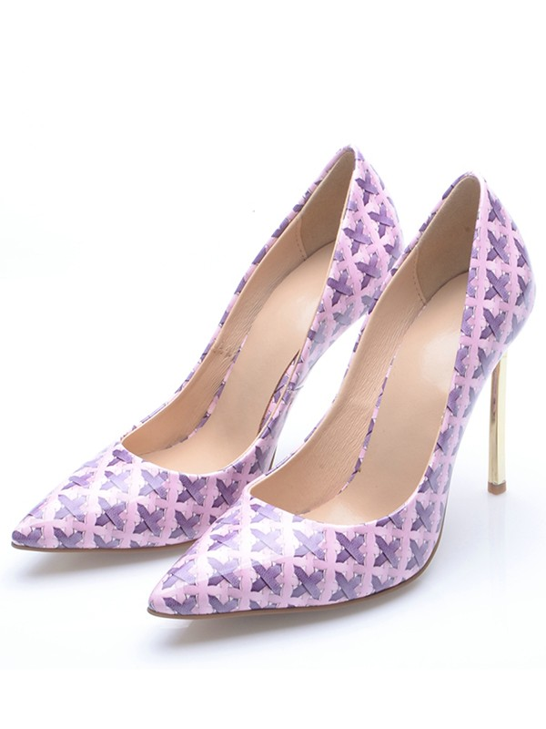 Women's Stiletto Heel Closed Toe Party Shoes